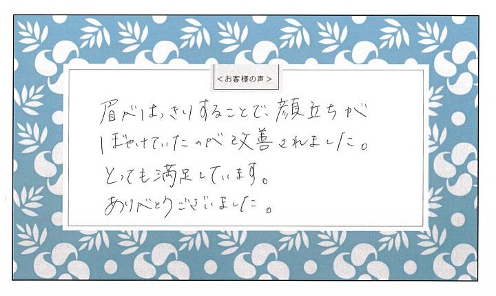 渋谷の森クリニック アートメイク お客様の声 アンケート